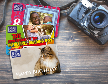 Book lover personalised gifts and vouchers photo upload