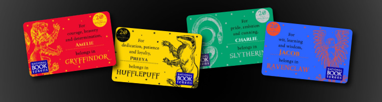 Giftcards for Harry Potter fans